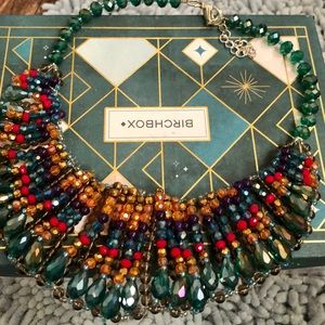 Francesca's Faceted Beaded Statement Necklace